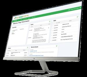 Desktop Computer Screen accessing MYWebPortal